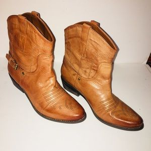 Franco sarto Leather cowgirl boots
